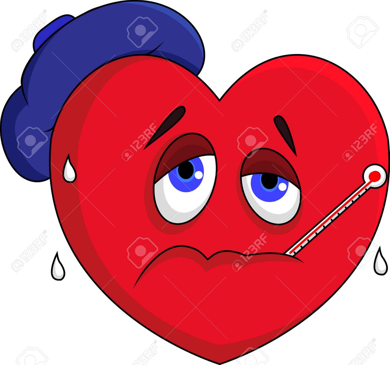 Sick heart character - 15234033