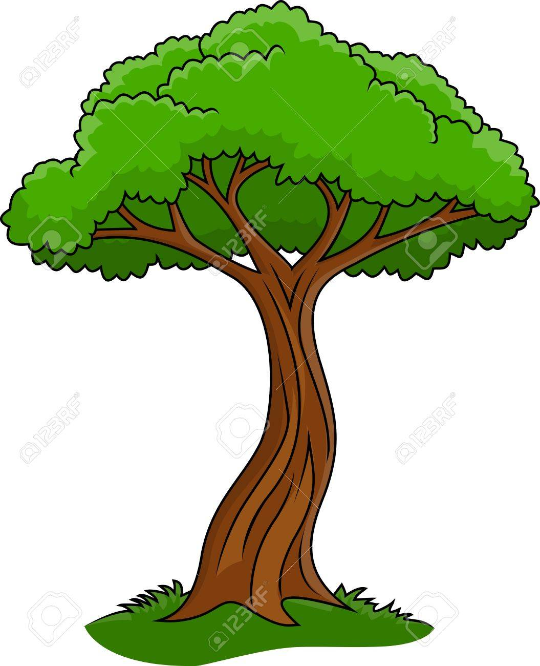 Illustration Of Tree Isolated On White Royalty Free Cliparts Vectors And Stock Illustration Image 15234320