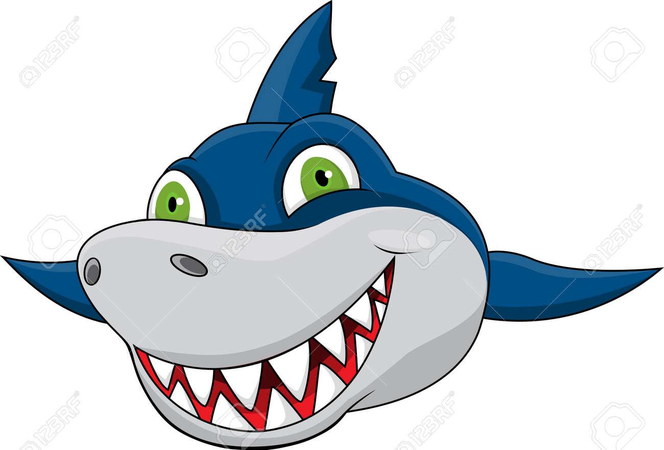 Cartoon Fish Face Shark Face Cartoon Shark