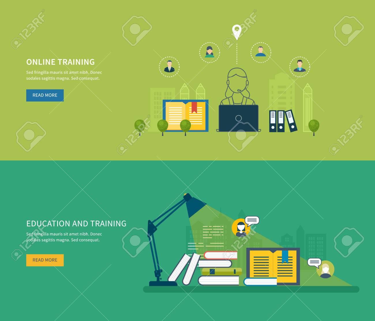 Flat Design Modern Vector Illustration Icons Set Of Online ...
