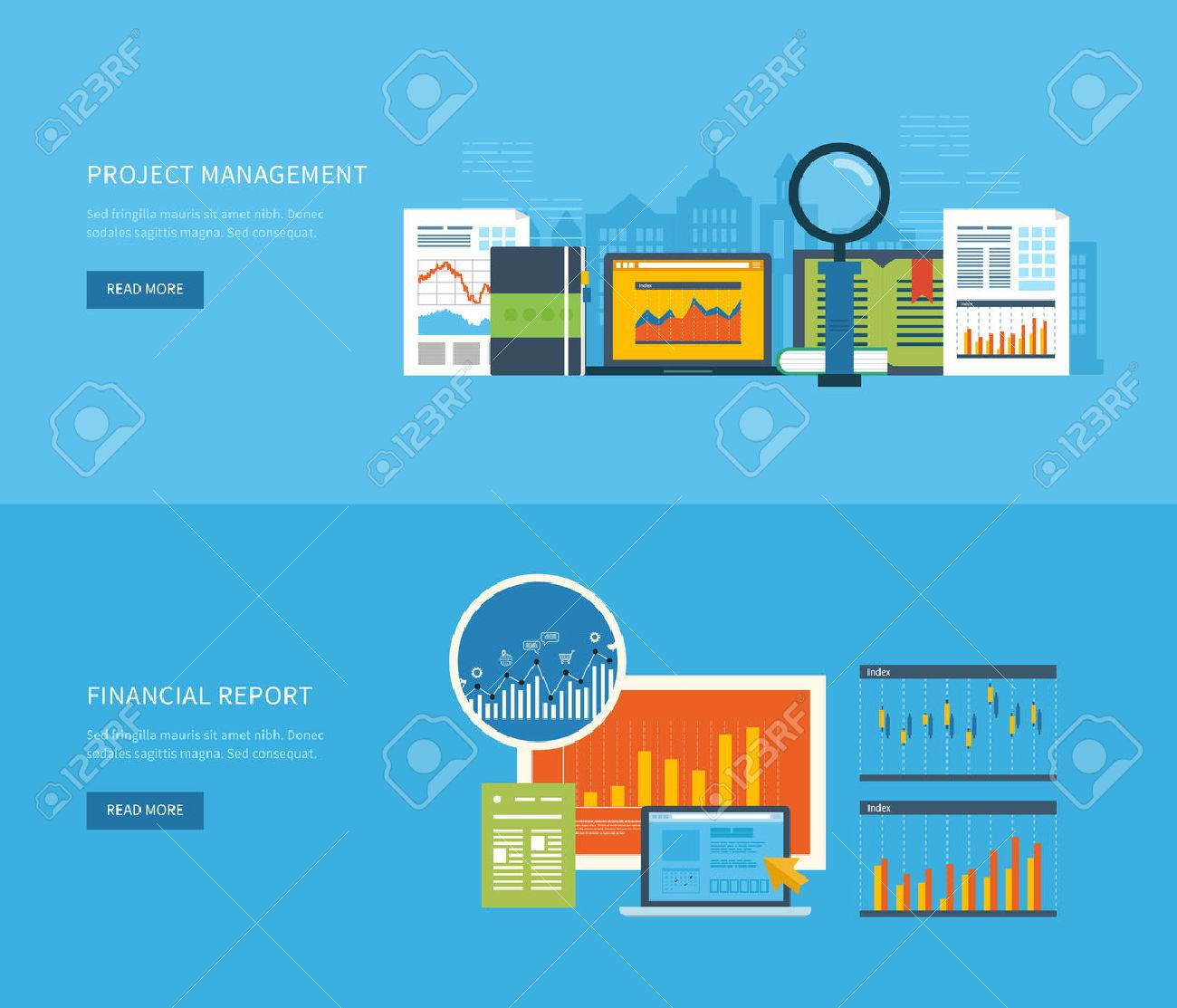 Flat Design Illustration Concepts For Business Analysis Financial – Consulting Report