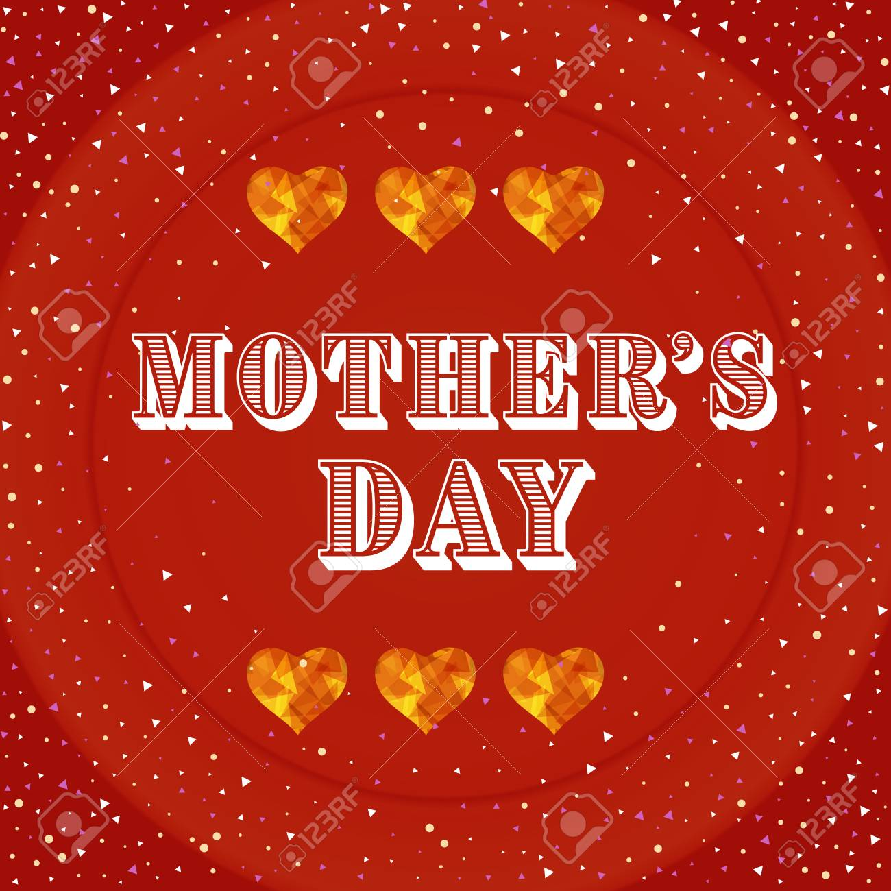 Happy Mothers Day Greeting Card Mothers Day Card With Heart