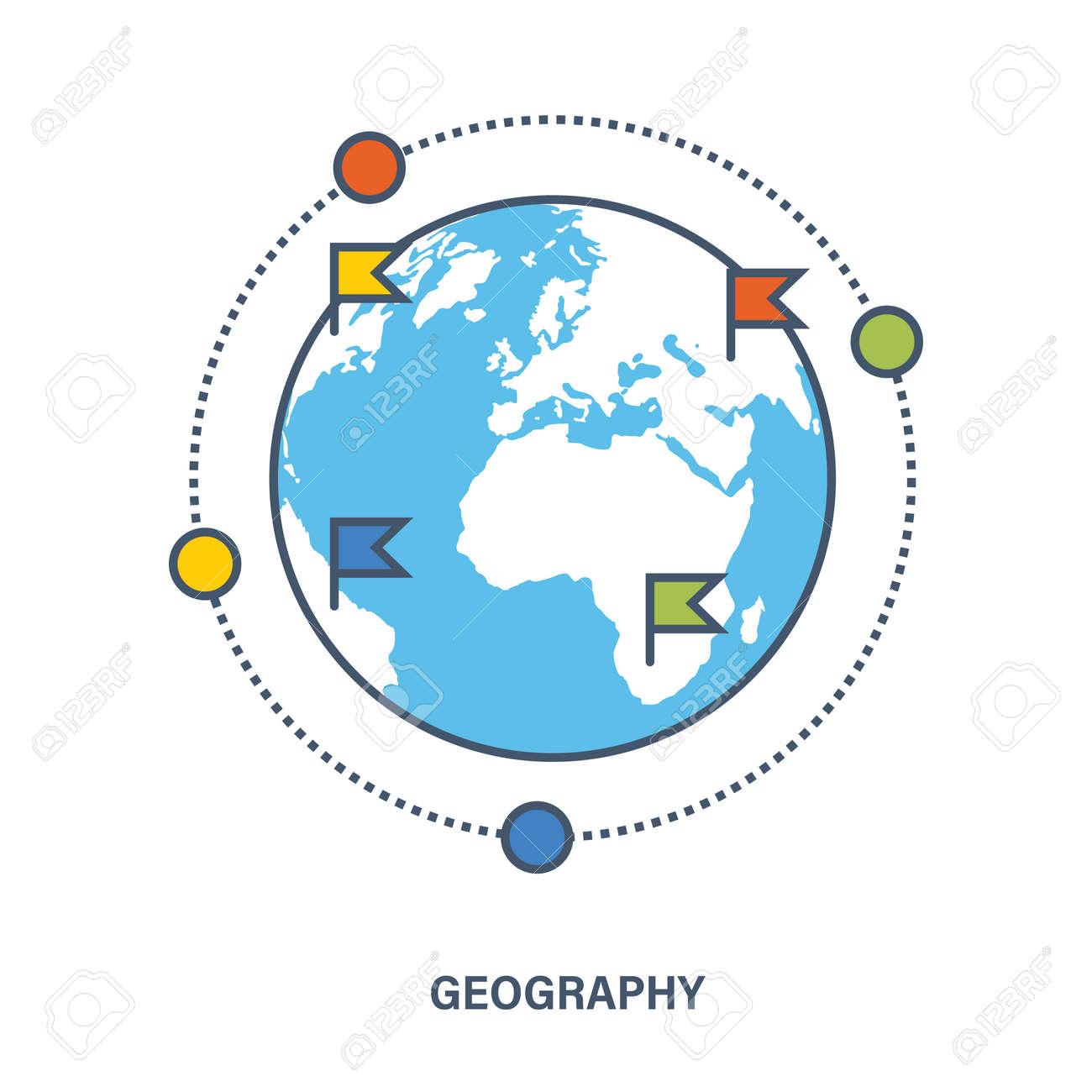 教育の概念。対象訓練として地理...