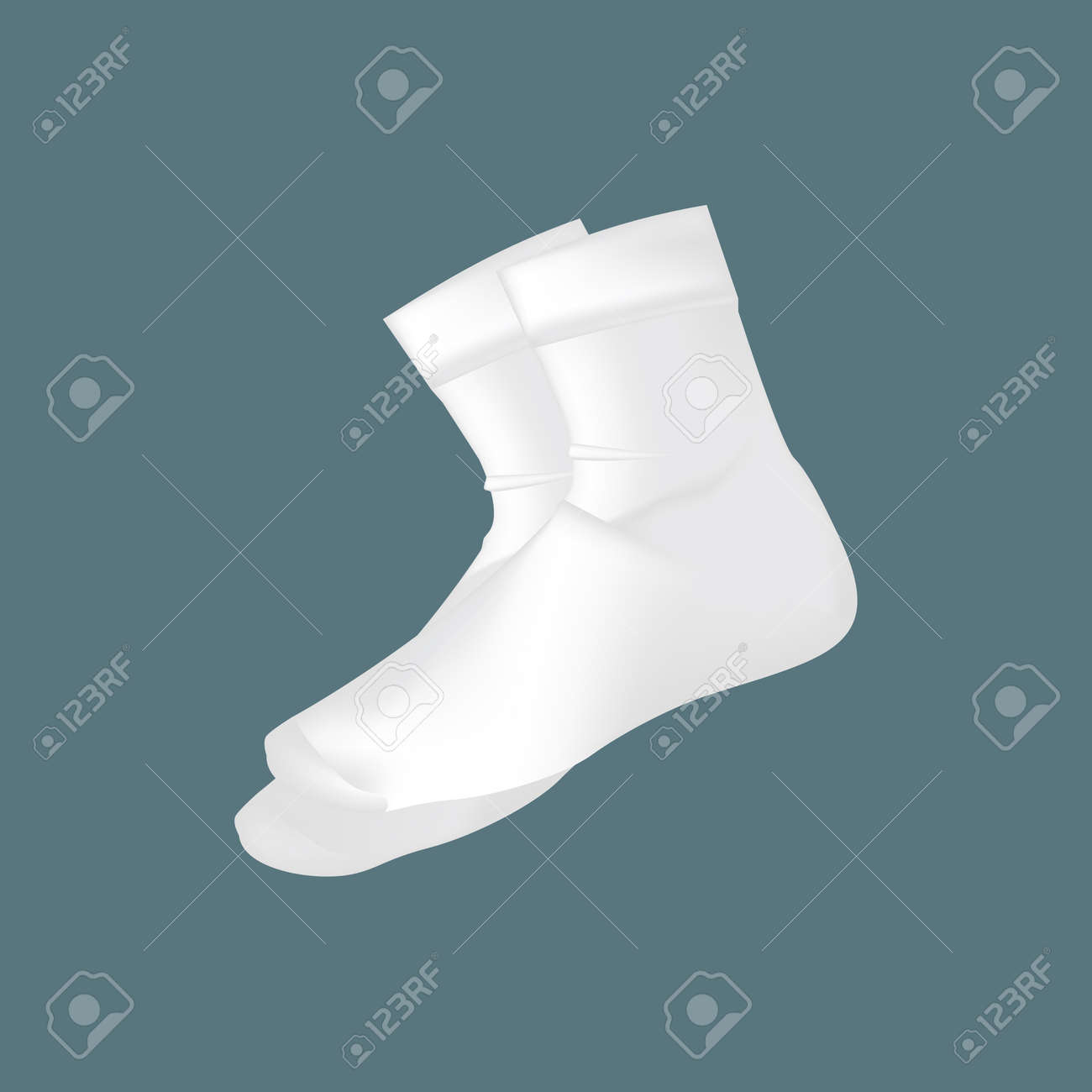 realistic mockup of men s clothes accessories white socks