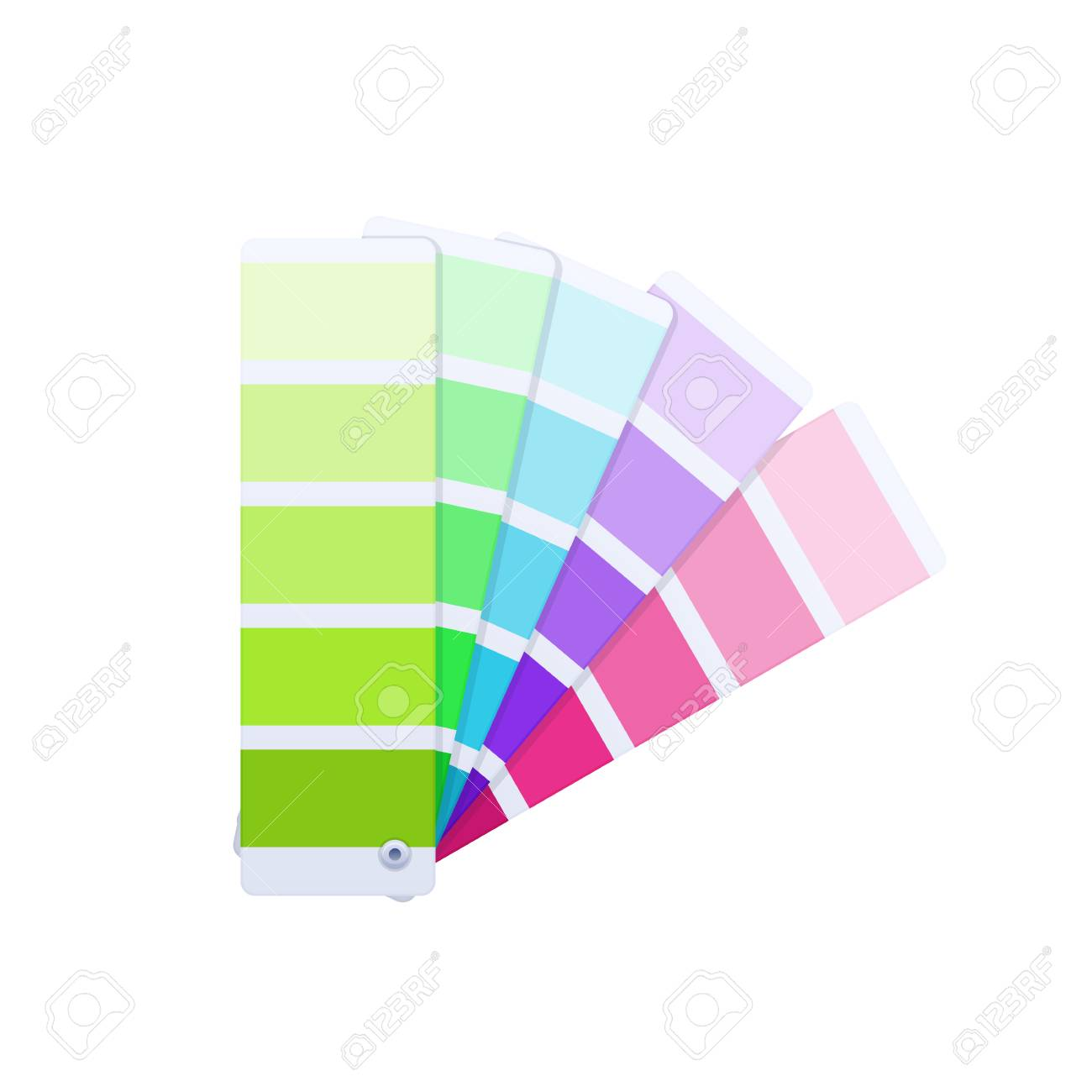 Modern Color Guide With Palette Of Paint Samples Creative Work Royalty Free Cliparts Vectors And Stock Illustration Image 97132447
