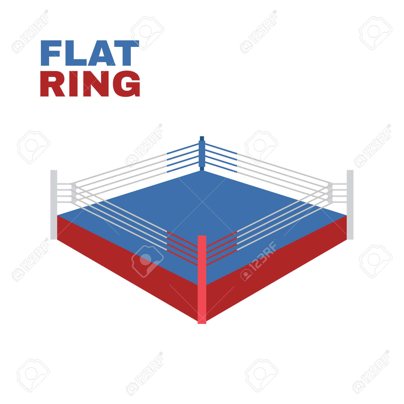 Boxing Ring Isolated on white. Vector illustration - 36274053