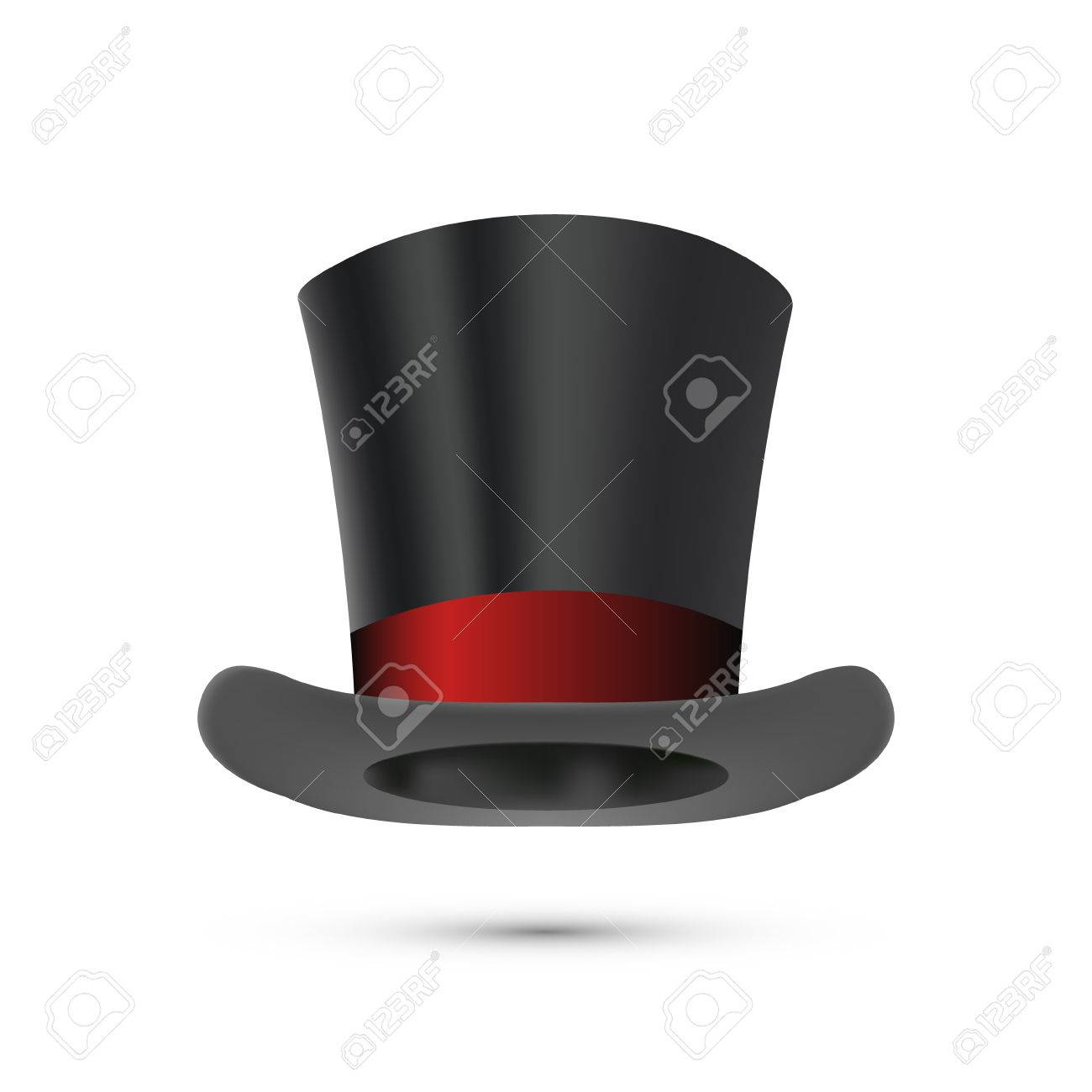 Top Hat isolated on white. Vector illustration - 40761553