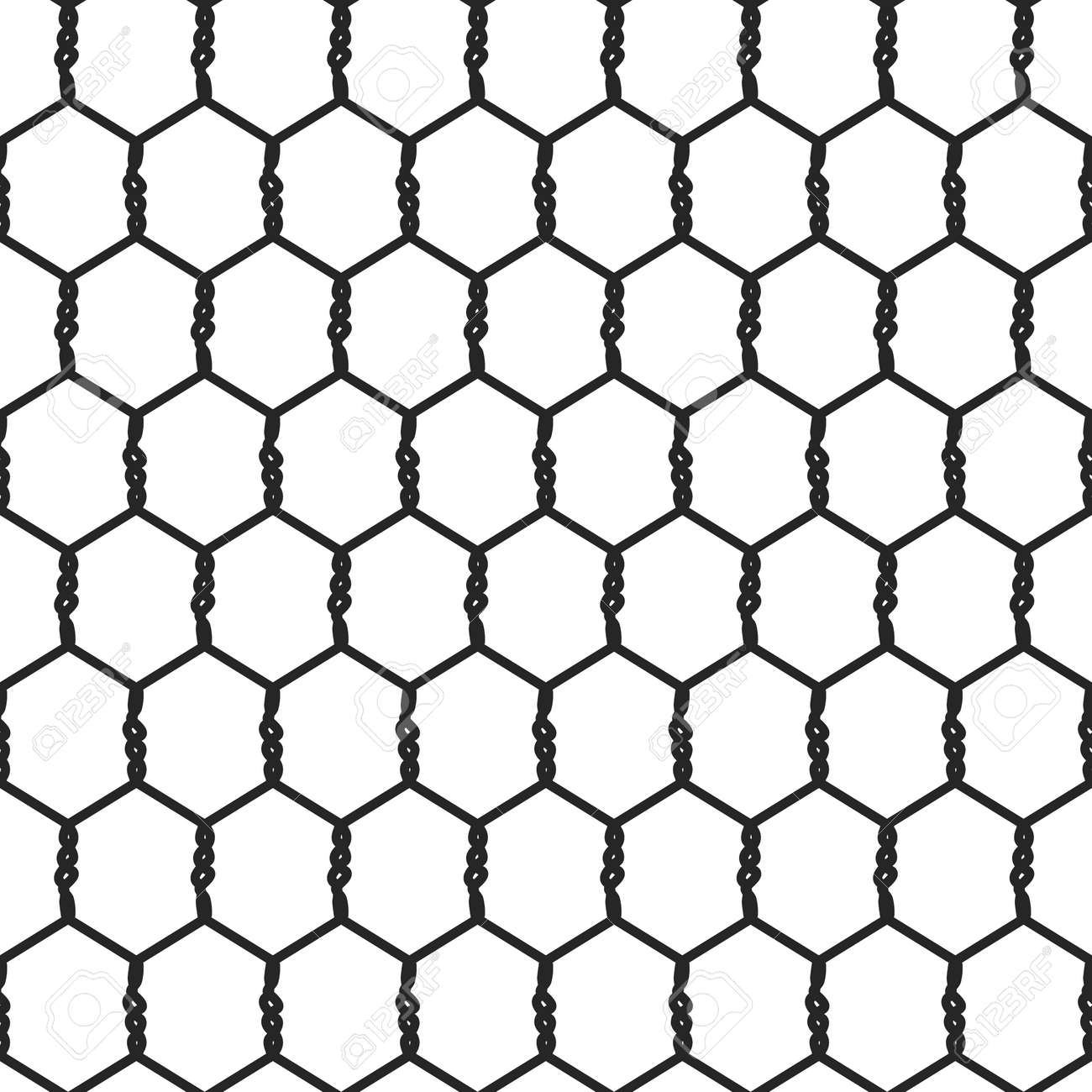 seamless wire mesh net cage vector illustration royalty free