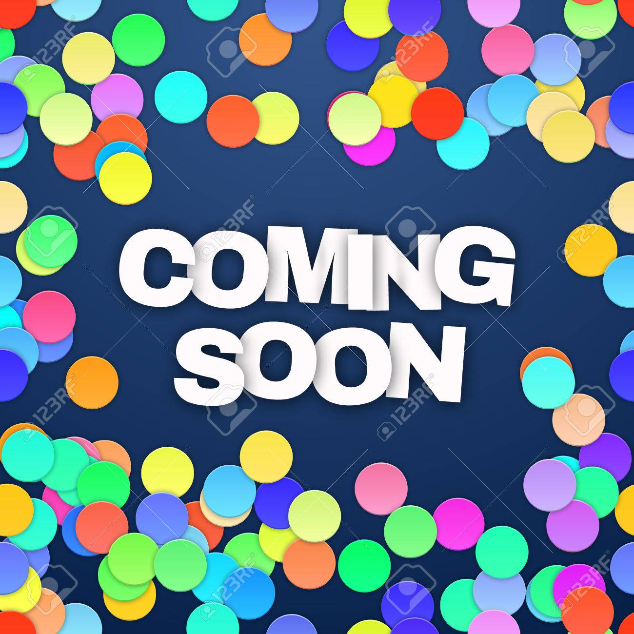Coming Soon on blue background. Vector illustration - 40762303