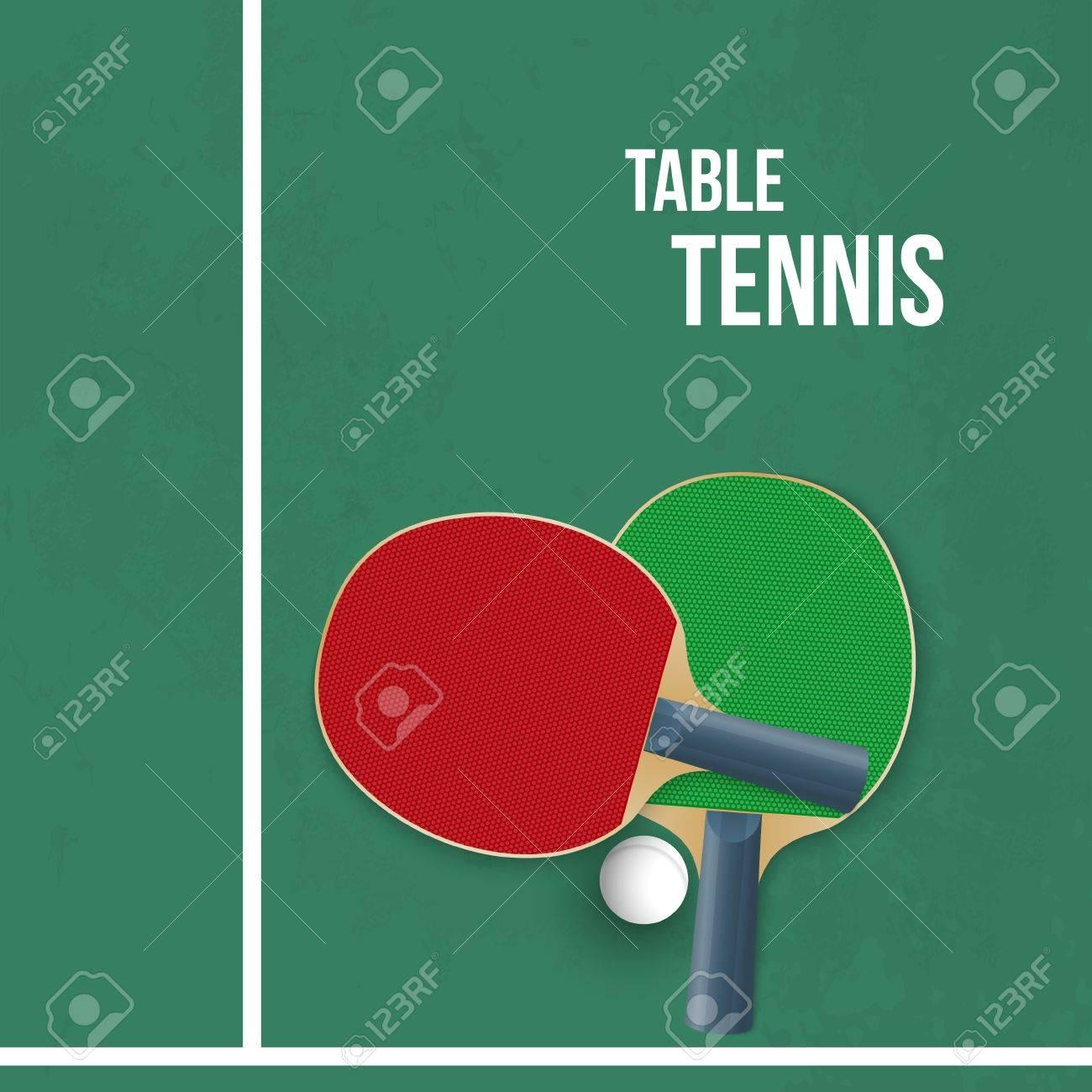 Dos Raquetas Para Jugar Al Ping-pong. Ilustración Vectorial ...