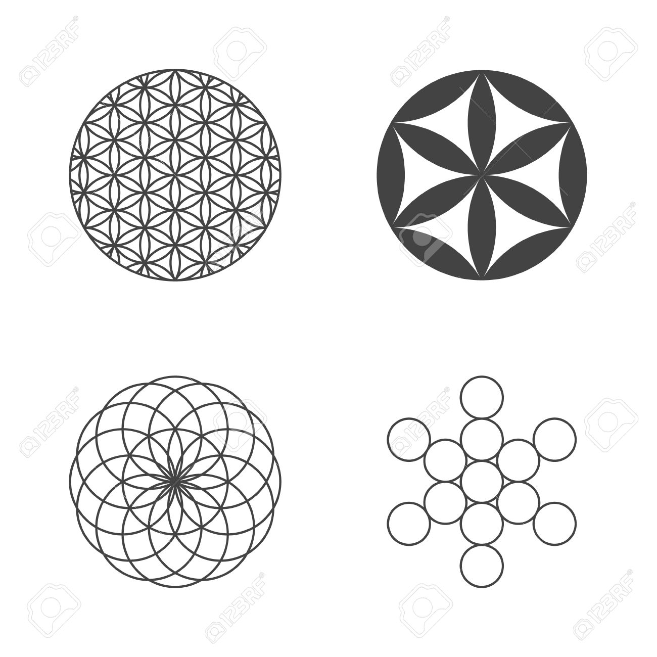 Flower of Life. set of icons. design elements. Vector Banque d'images - 41547440