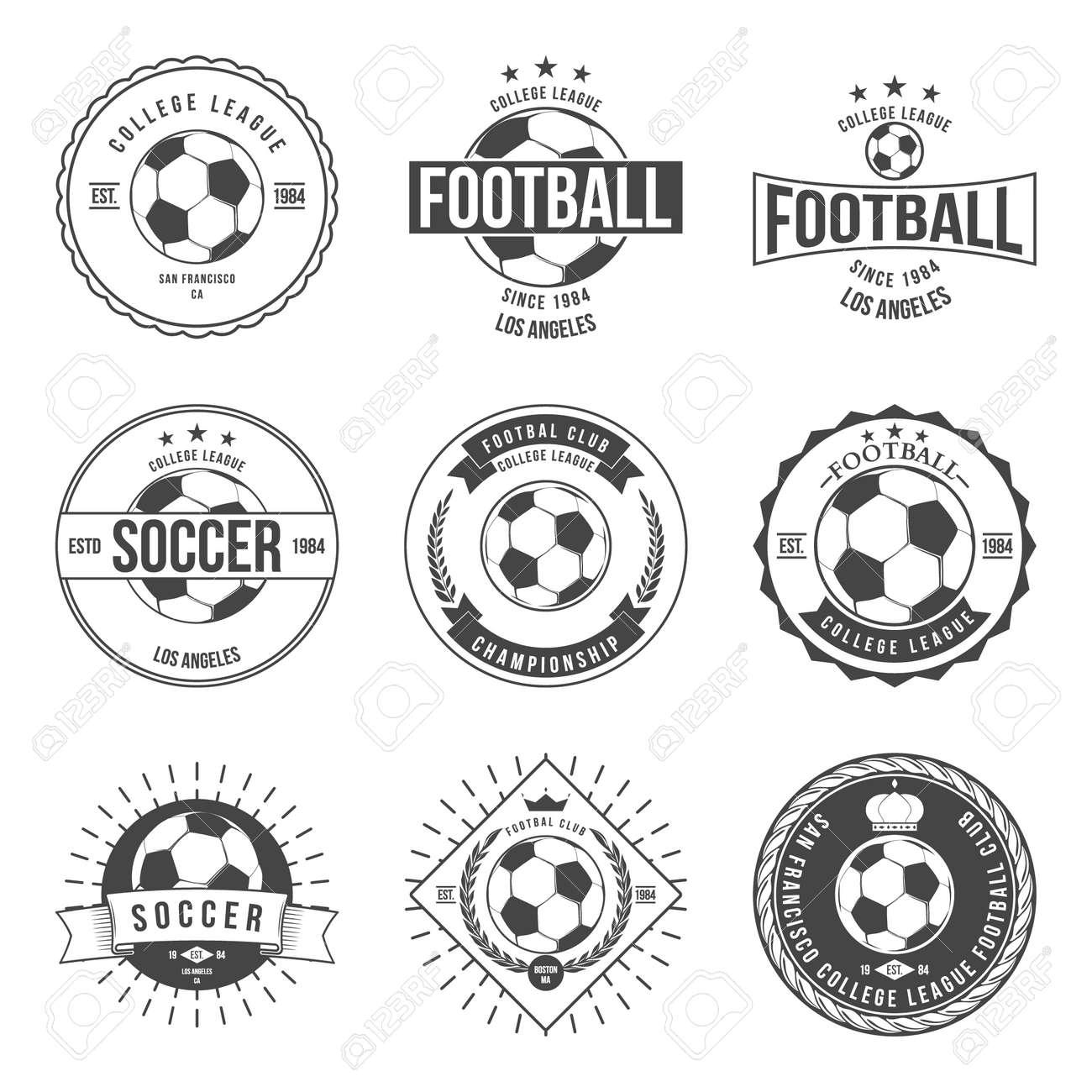 Soccer Football Typography Badge Design Element vector - 42460330