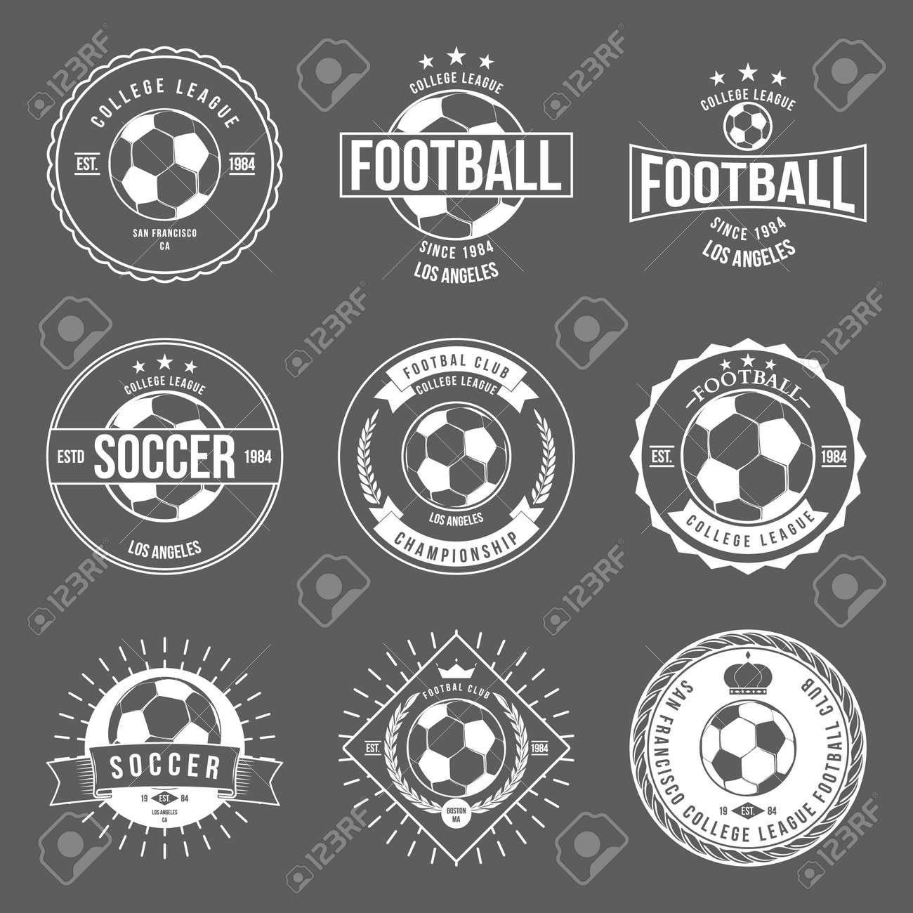 Soccer Football Typography Badge Design Element vector - 42460358