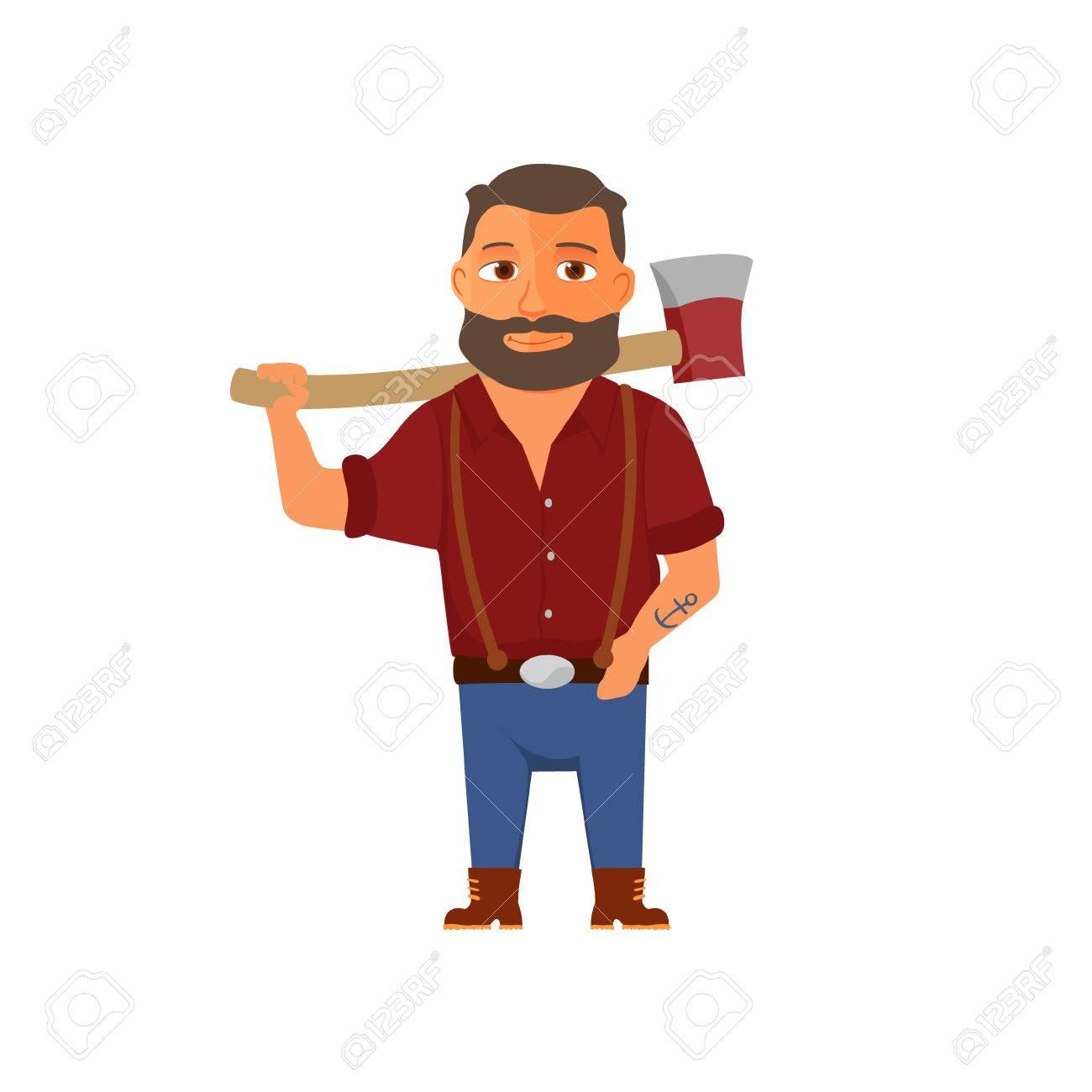 El internado (en el centro de la ciudad) - Página 2 61006127-cartoon-lumberjack-character-with-axe-vector-illustration