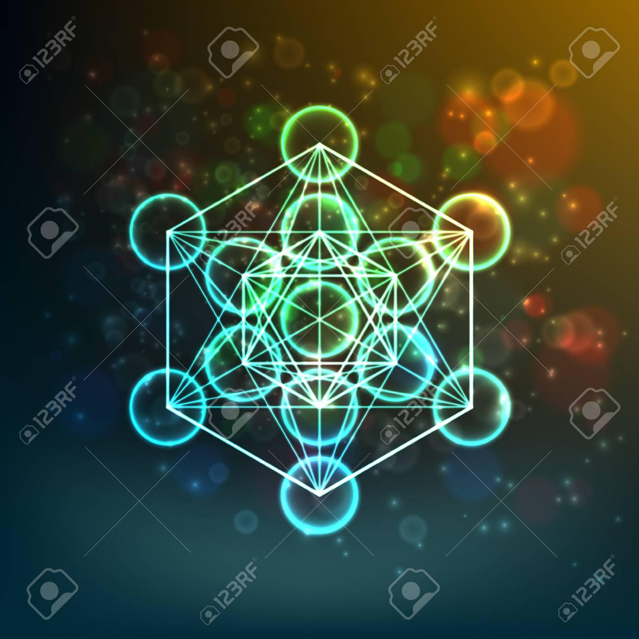La Flor De La Vida Geometría Sagrada Símbolo De Armonía Y