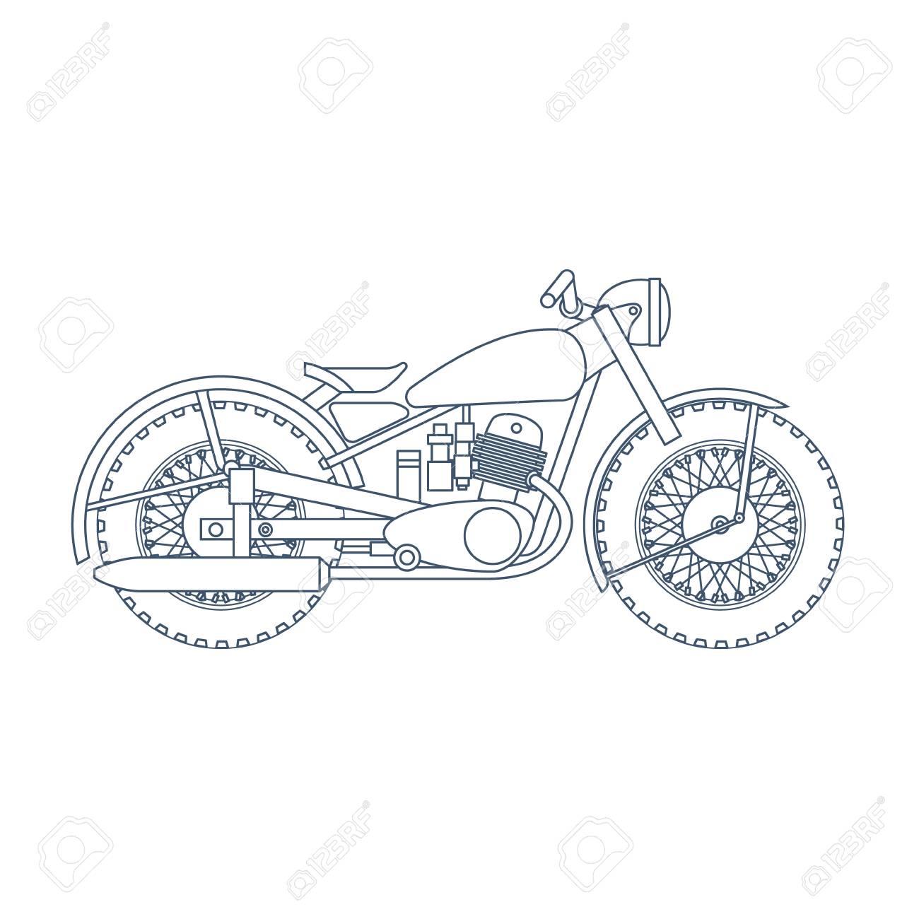 vintage motorcycle design template for bike shop or motorcycle