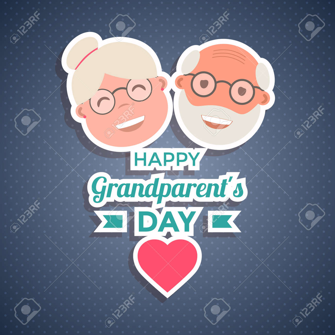 Happy Grandparents Day Greetings For Card Banner Or Poster Royalty
