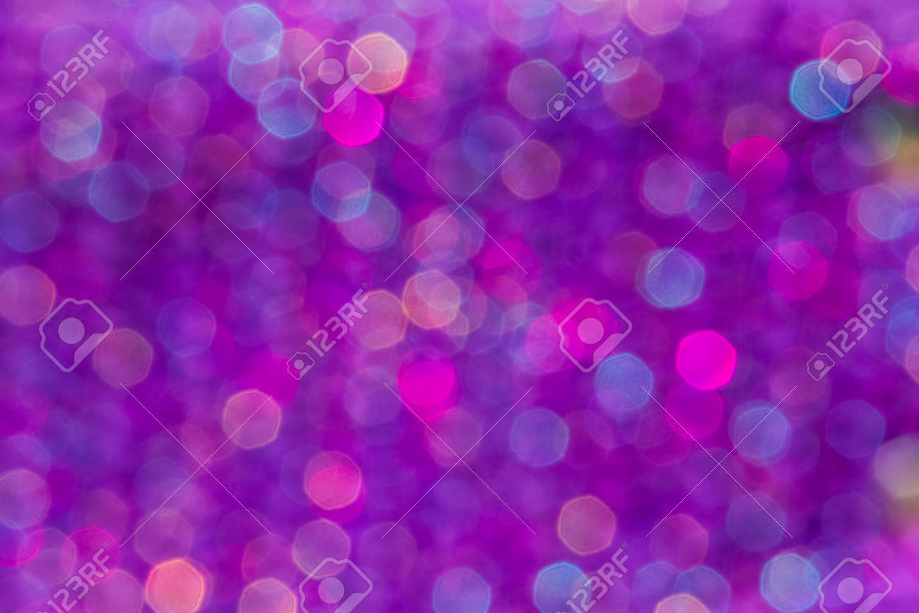 Festive Purple Blue And Pink Blur Bokeh Use For Holiday Backgrounds