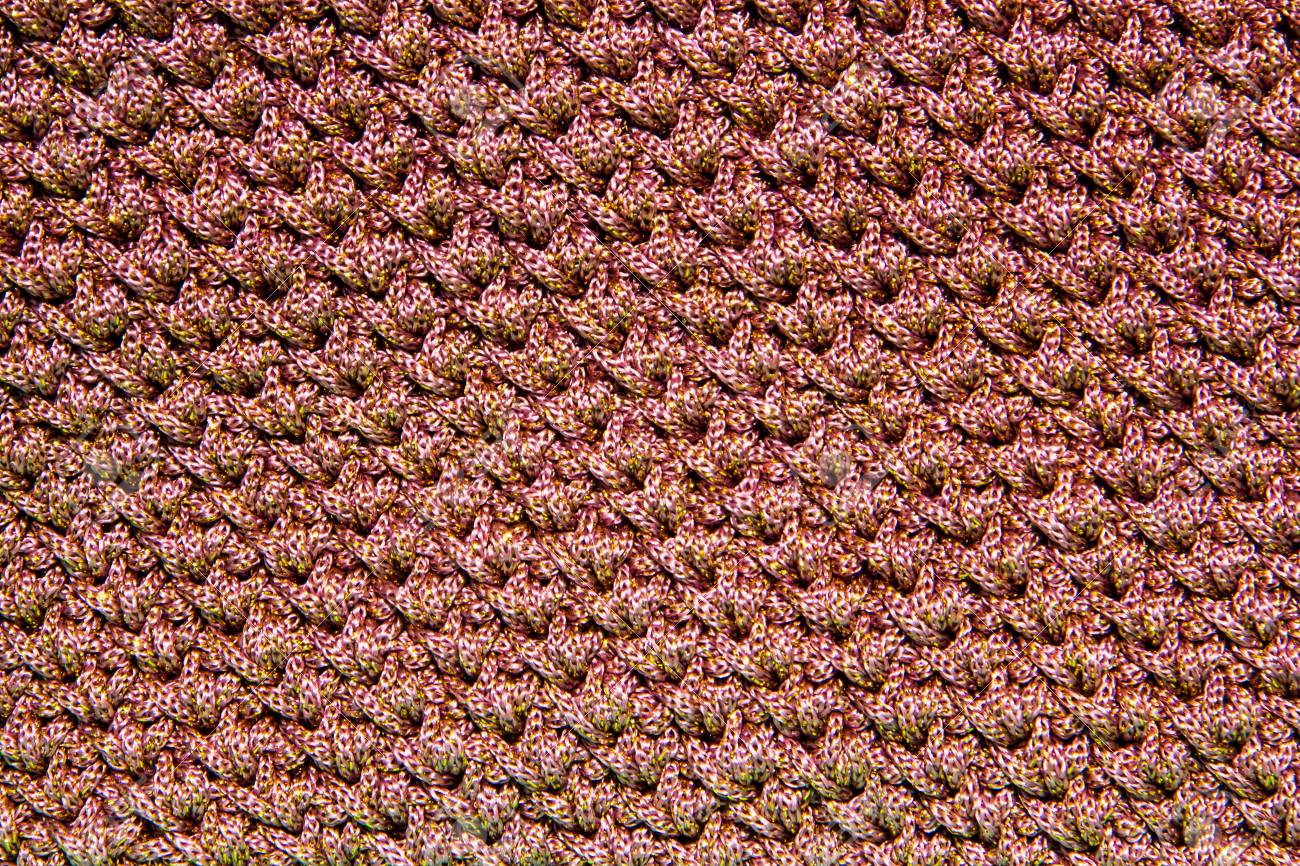 Pink Crocheting Pattern Close Up . Stock Photo, Picture And Royalty ...