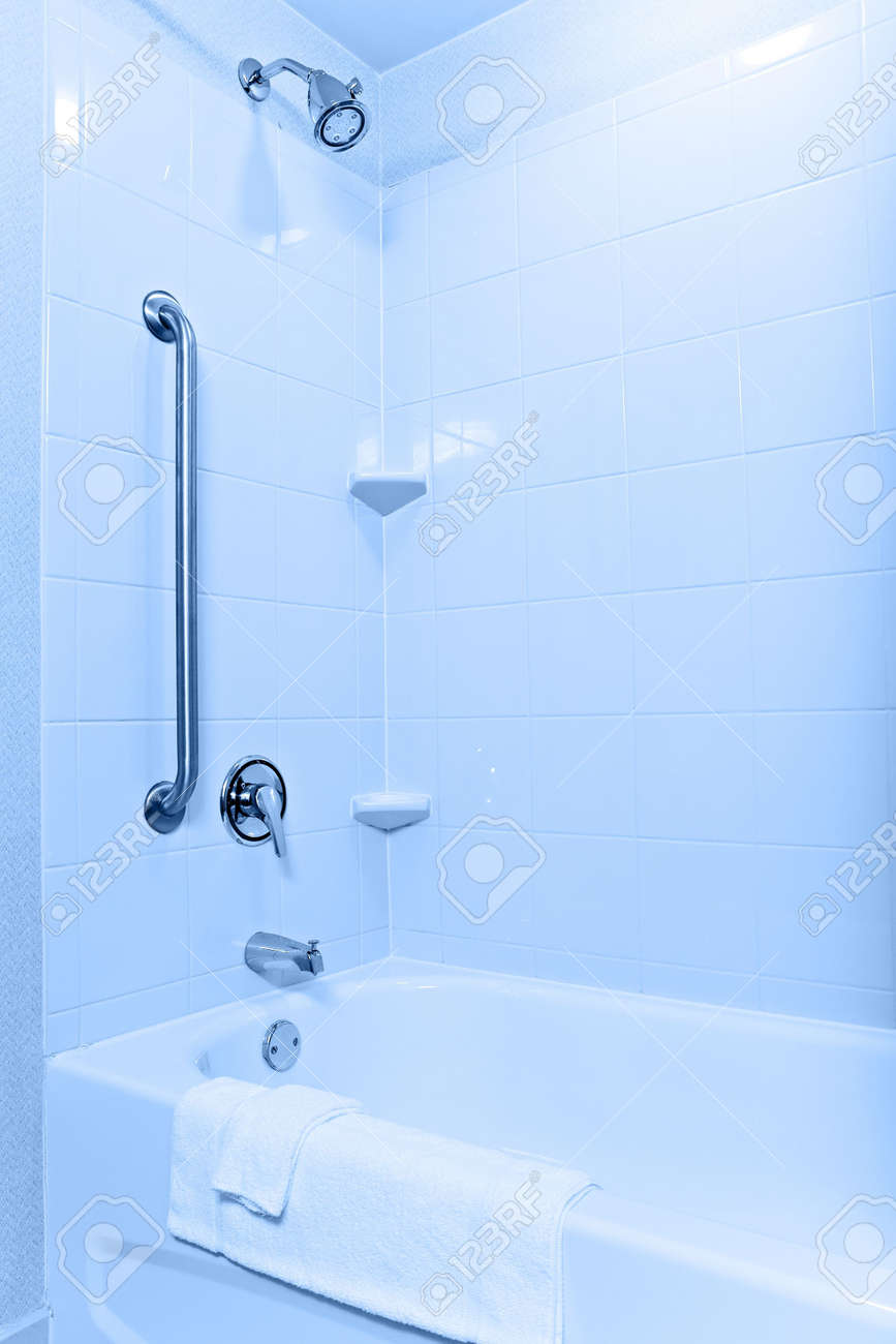 Handicaped And Senior-accessible Tub And Shower In A Modern ...