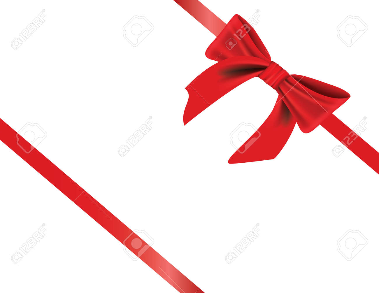 Vector - gift wrapped with elegant red bow, with realistic shading Stock Vector - 3574613