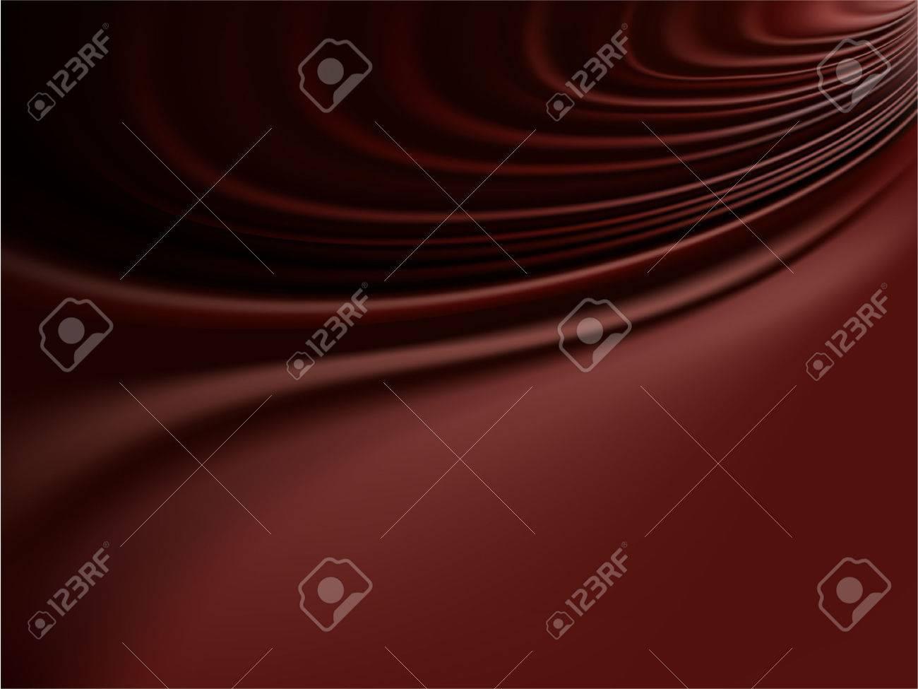 ベクトル 溶融チョコレートや滑らかなサテンの退廃的なひだのイラスト