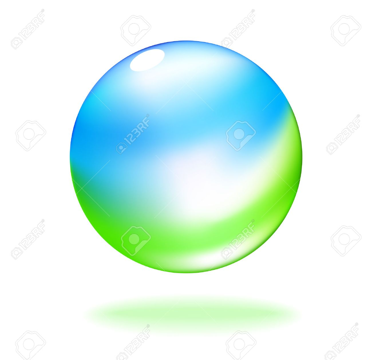 Abstract vector of sky and grass in a transparent bubble Stock Vector - 4553769