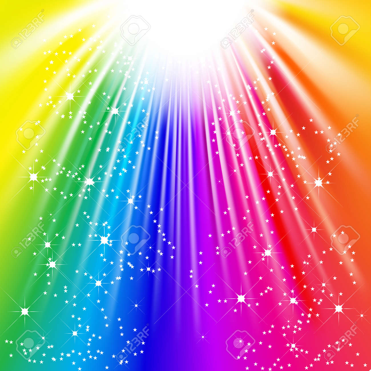 Ray Of Colorful Light Vector rays of colorful