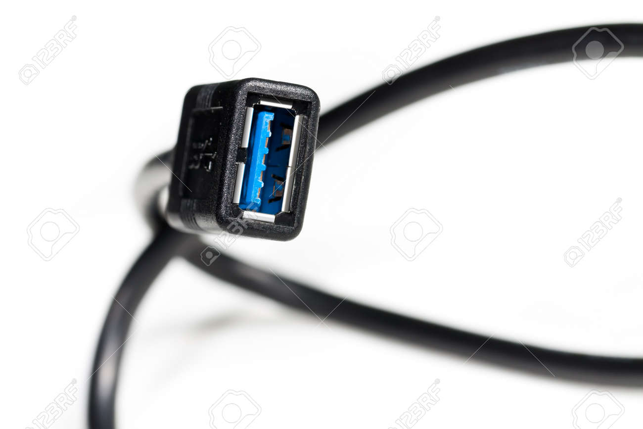 Female end of a USB 3 0 interface cable Stock Photo - 14532014