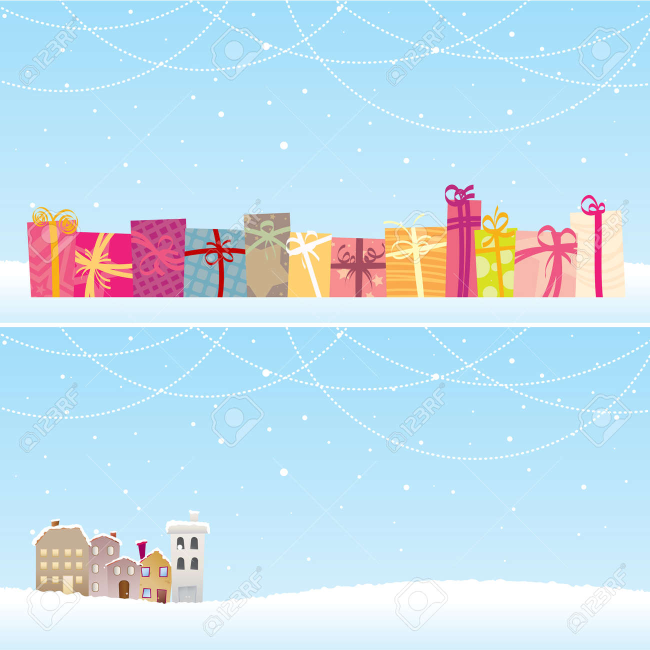 Two  christmas banners with different concepts. Stock Vector - 15169256
