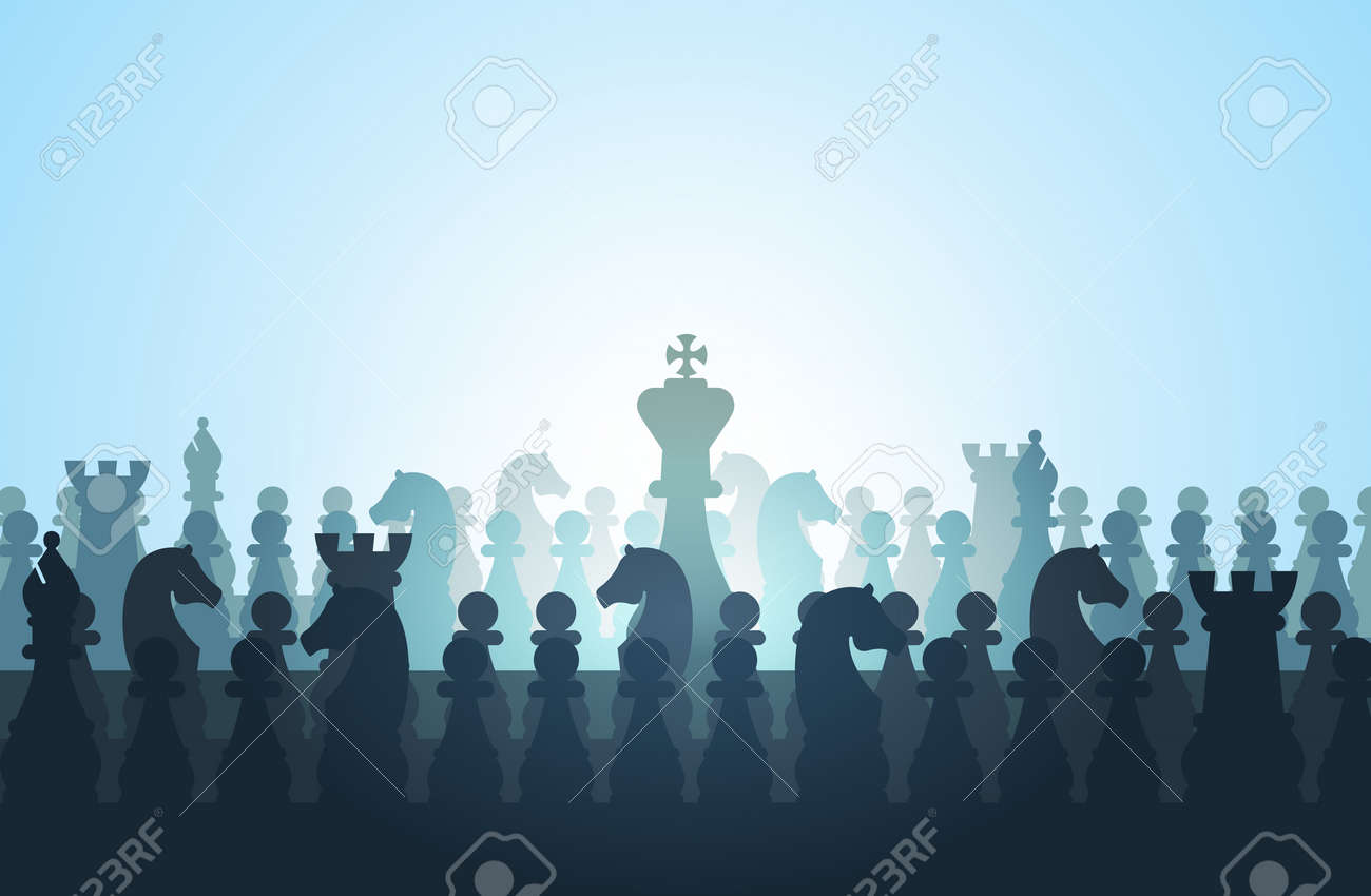 Vector illustration of a king surrounded by his subjects. Stock Vector - 16248371