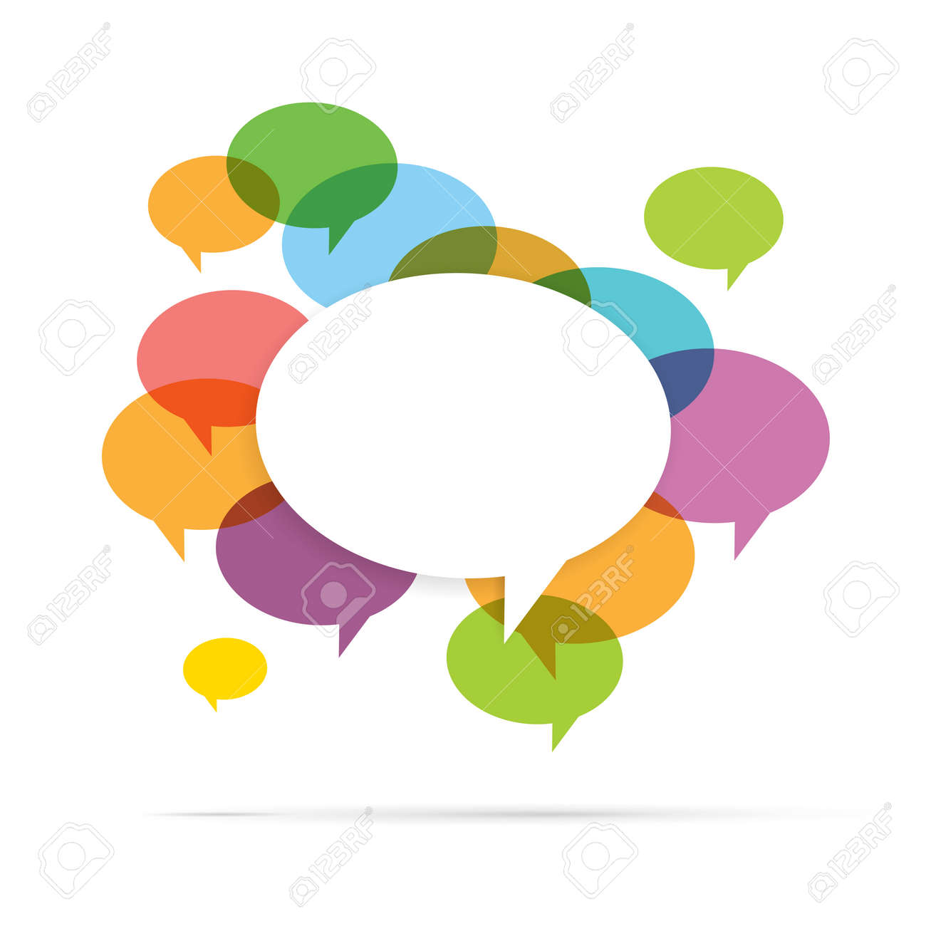 Vector illustration of colorful speech bubble copyspace. - 25211396
