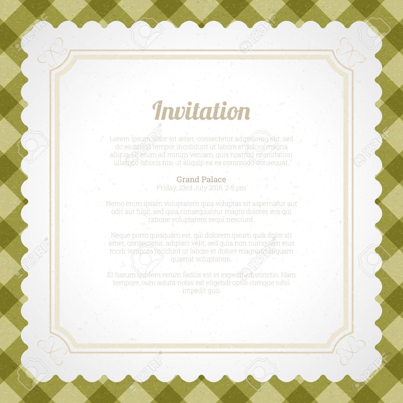 Ilustración Vectorial De Tarjeta De Invitación Plantilla De Fondo