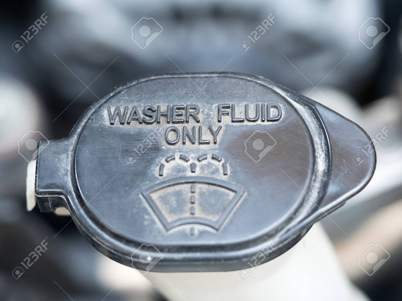 Washer Fluid Symbol Of Washer Fluid Close Up Of Black Washer