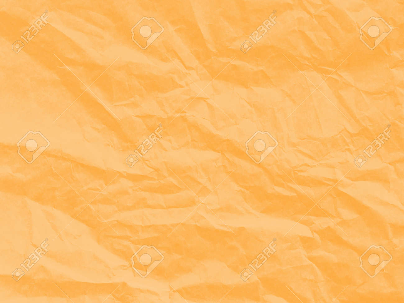 Soft Orange Color Art Paper Textureunique Crumpled Soft Orange Color Of Paper