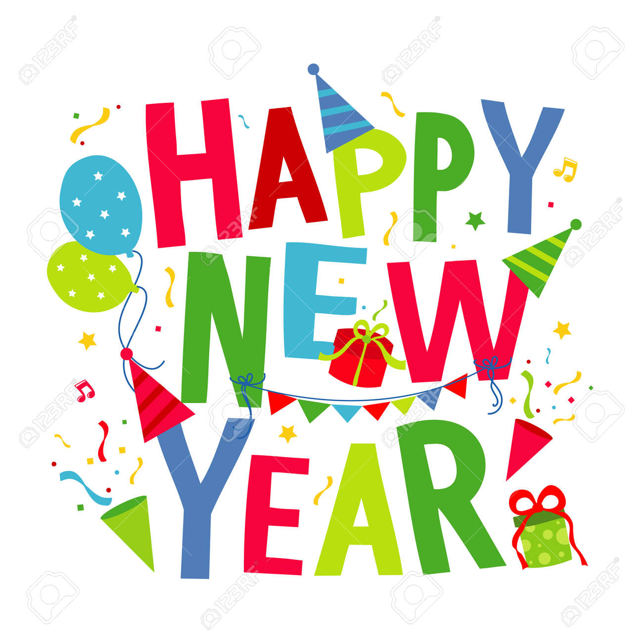 Happy New Year Cartoon 2
