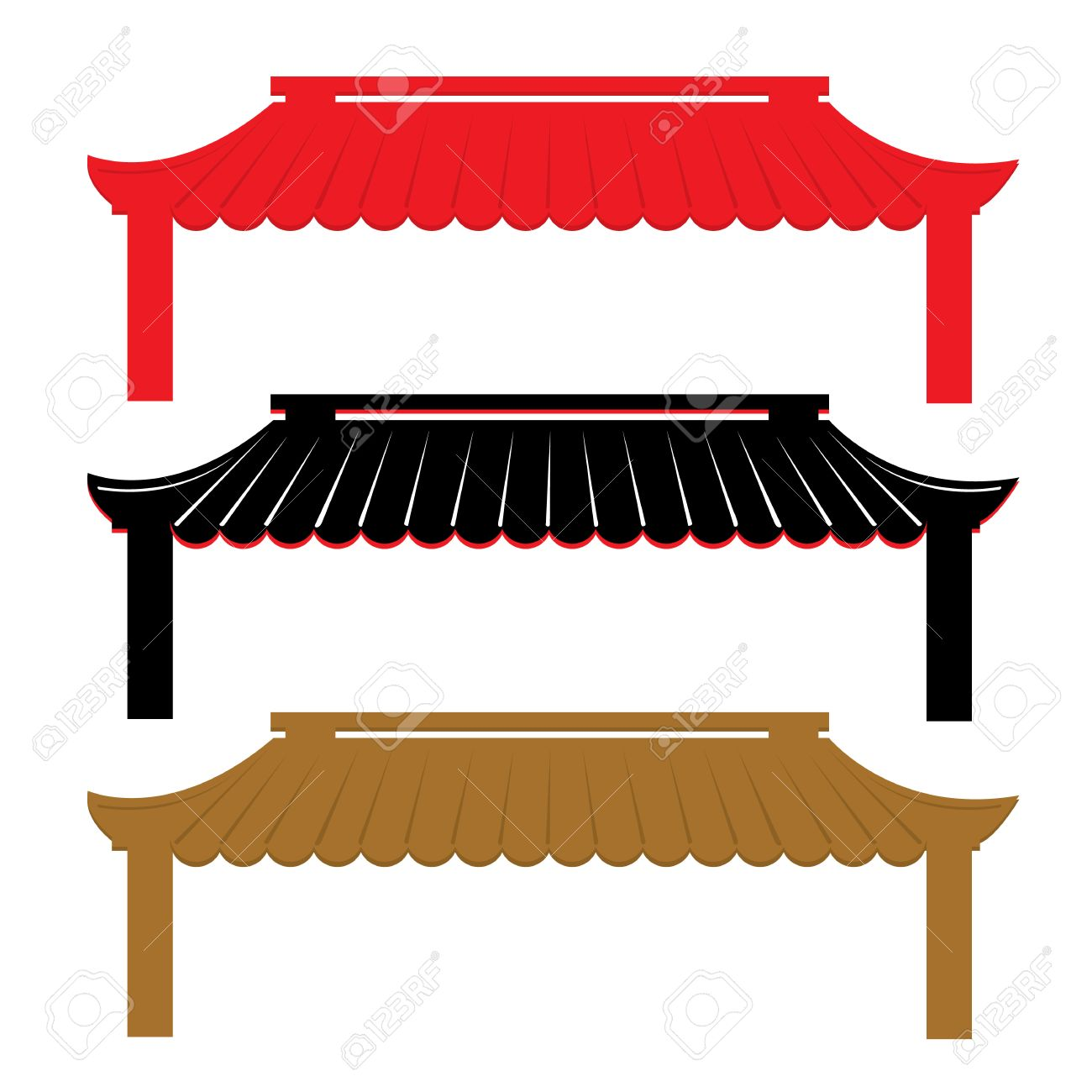 Roof Traditional China Vector - 38392609