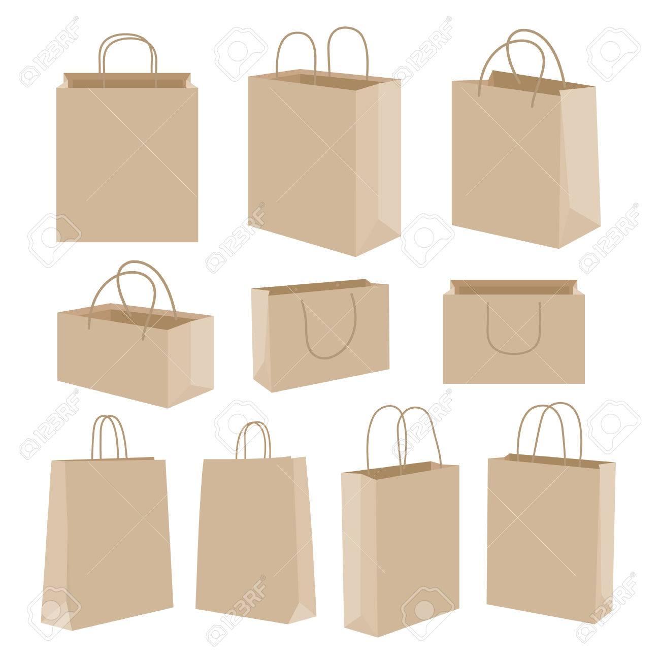 Paper bag vector - Paper Bag Vector Stock Vector 38392612