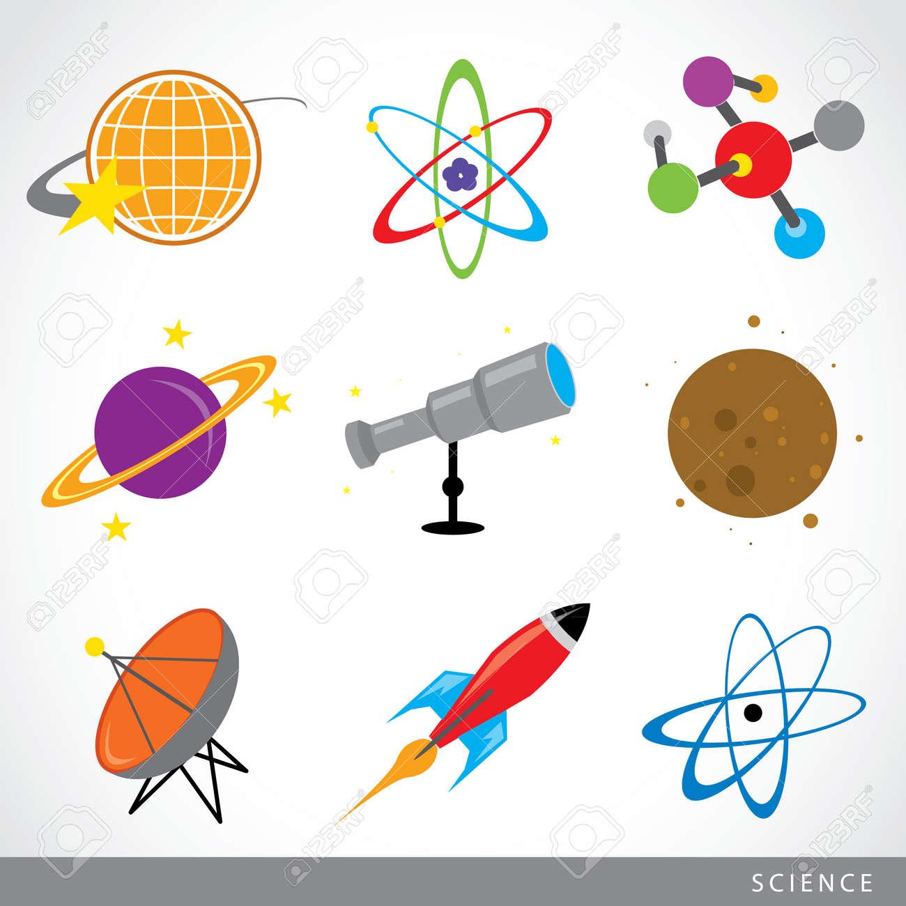 Ensemble De La Science Des Choses Icone Systeme Solaire Univers