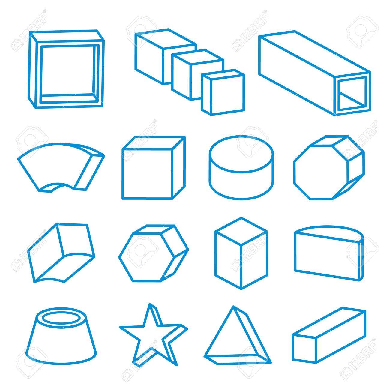 Conjunto De Formas Geométricas, Sólidos Platónicos, Ilustración Del ...