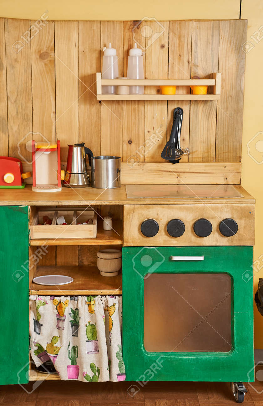 wooden kitchen toy playset play cooking
