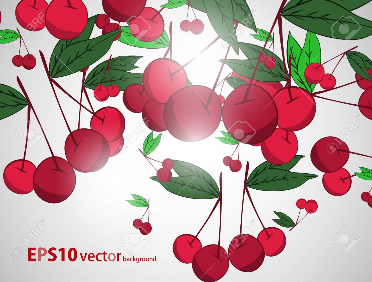 Cherry  background Stock Vector - 17148343