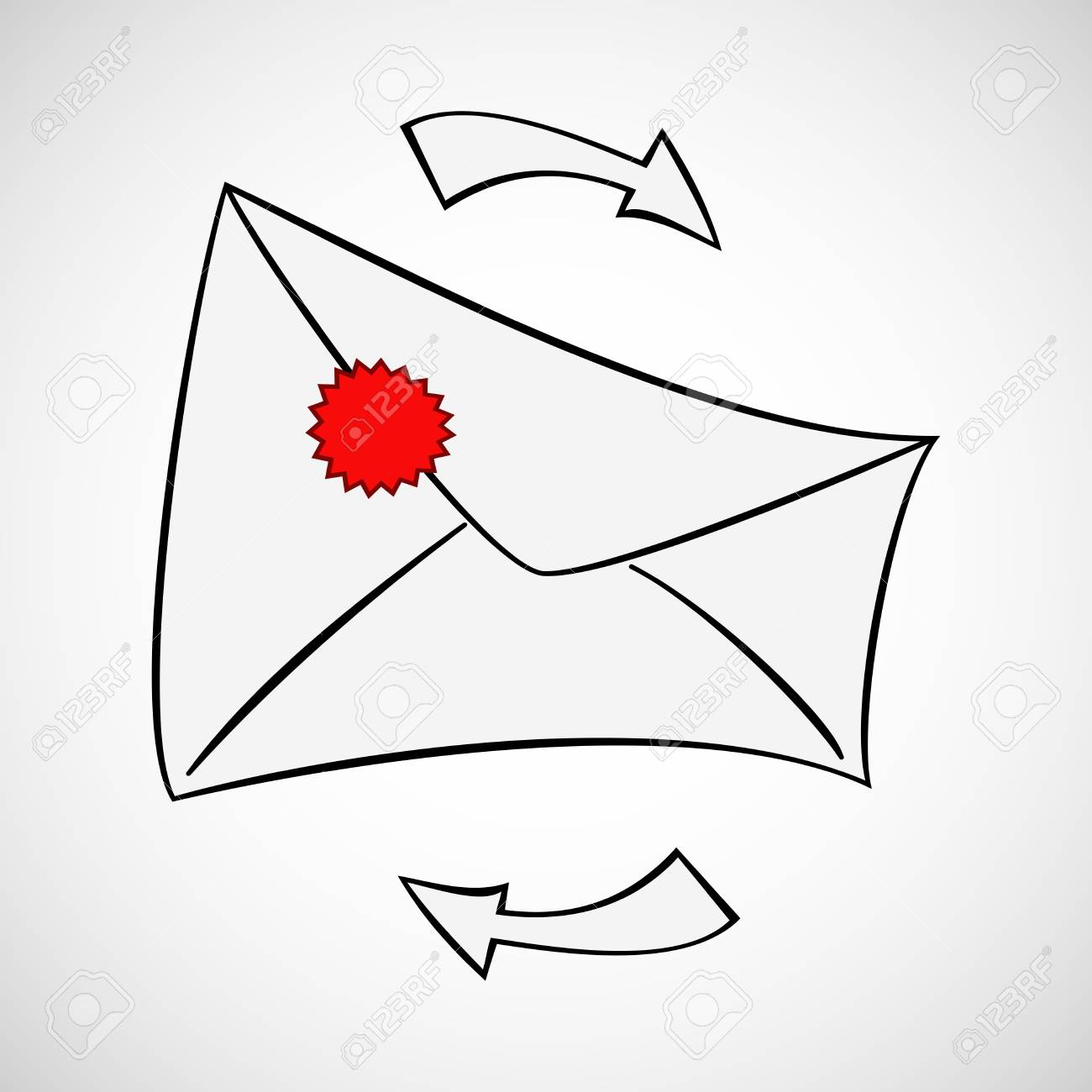 Envelope background Stock Vector - 17703000