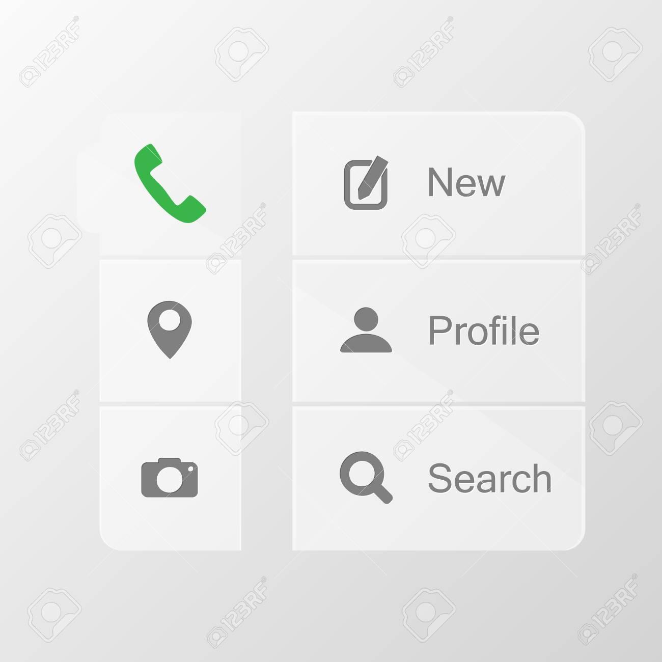 Smart phone application icon set Stock Vector - 23099343