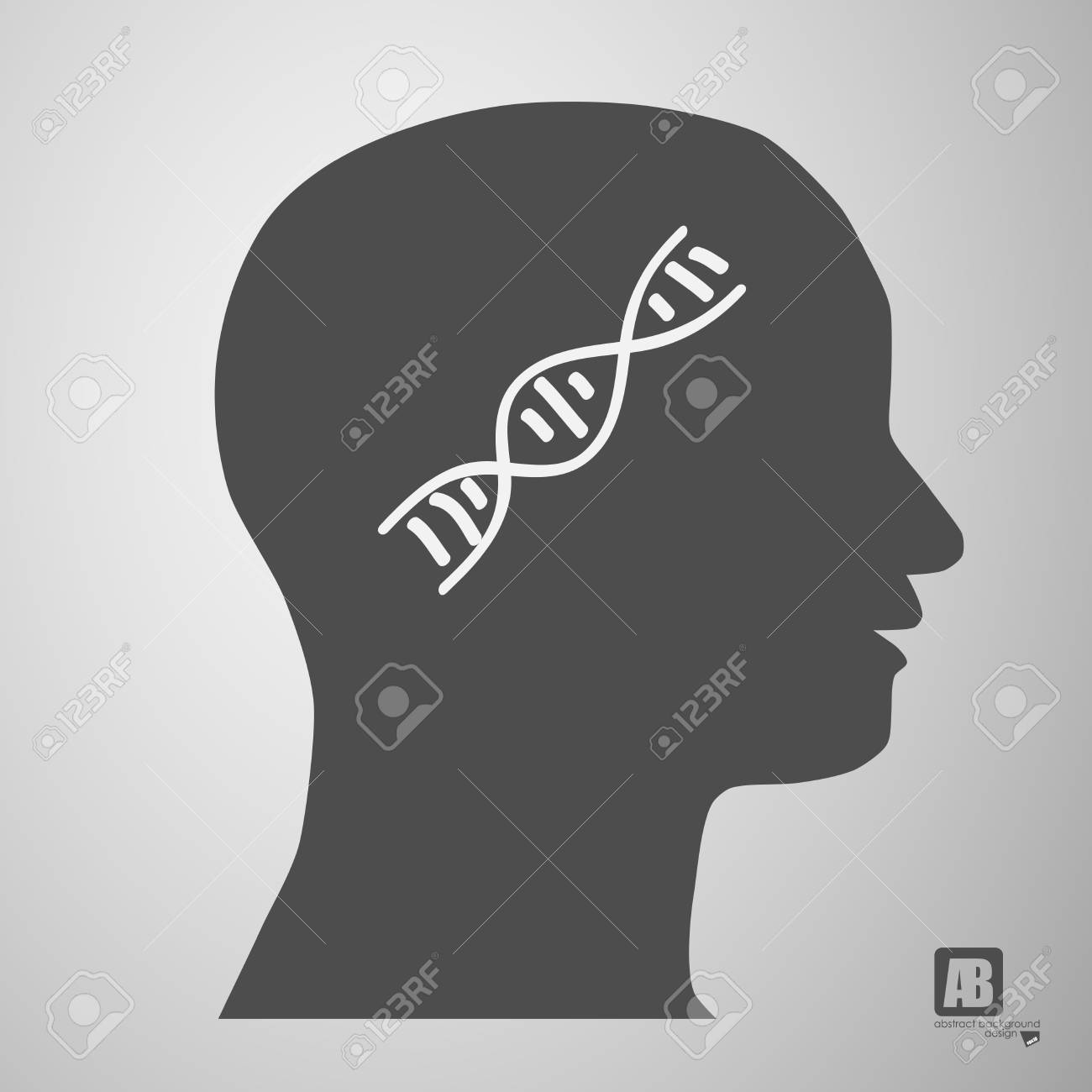 human head silhouette with medicine formulas Stock Vector - 23815249