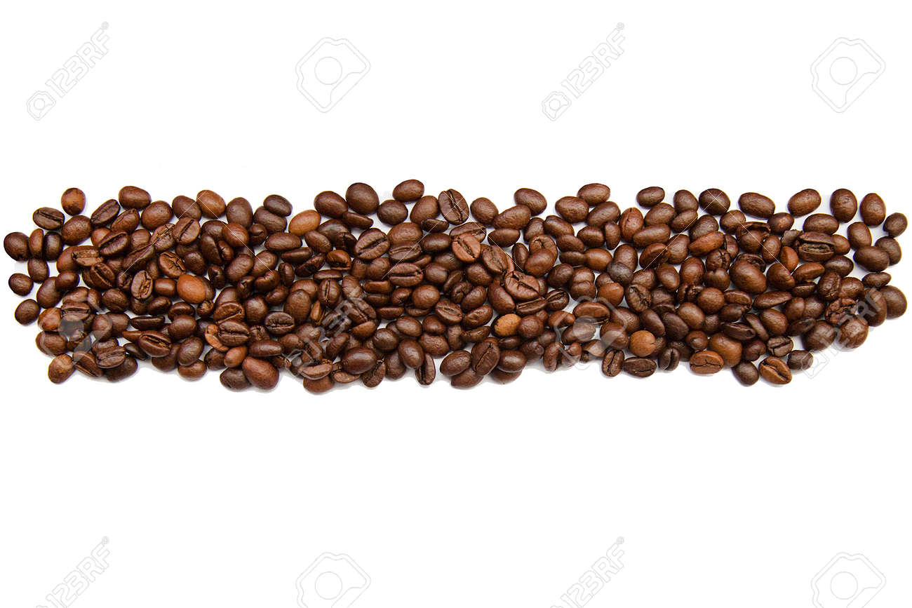 Kaffeebohnen Ohne Hintergrund Für Design Oder Textur Lizenzfreie