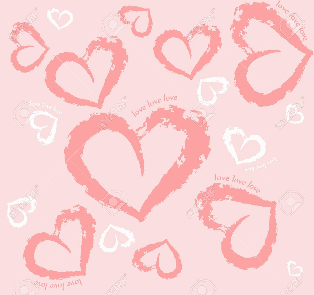 Pattern with heart, love, delicate, Stock Vector - 13200386