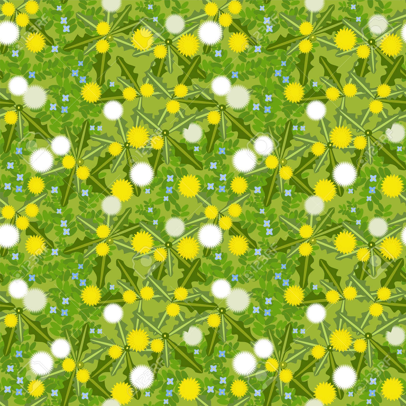 dandelion seamless texture for design Stock Vector - 14119386