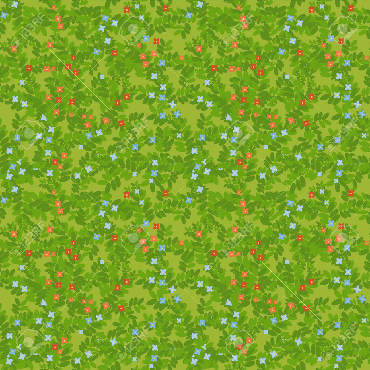 meadow seamless pattern Stock Vector - 14119355
