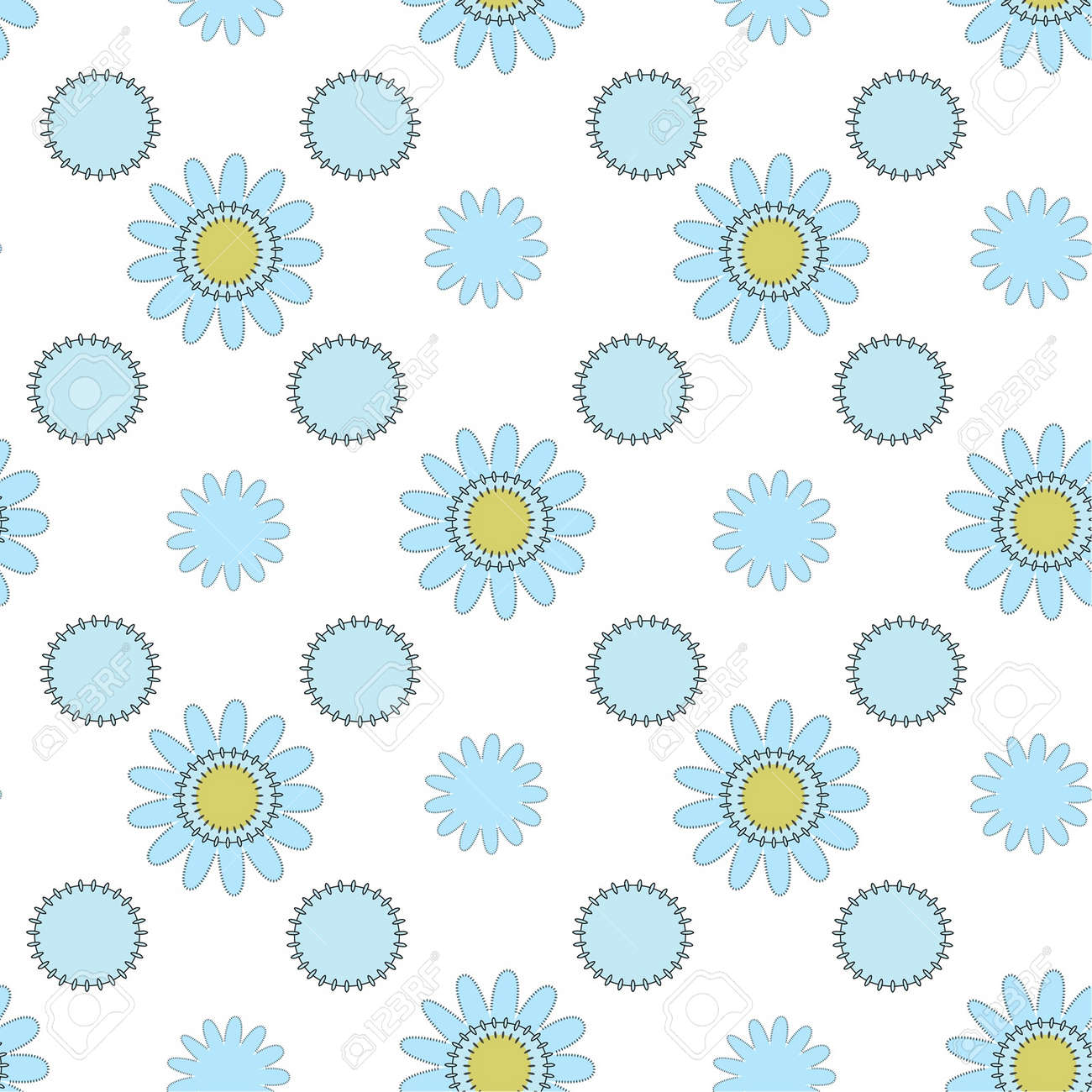 light blue seamless floral ornament Stock Vector - 15350958